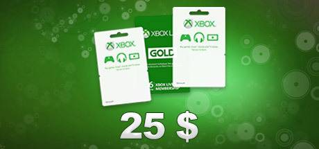 25 Usd Xbox Live Gift Card