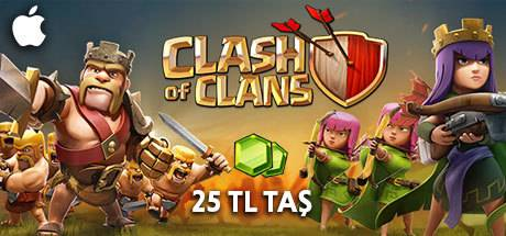 Clash of Clans Taş 25 TL Apple Store
